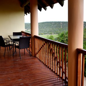 Chalet Balcony - Accommodation near Addo Elephant Park